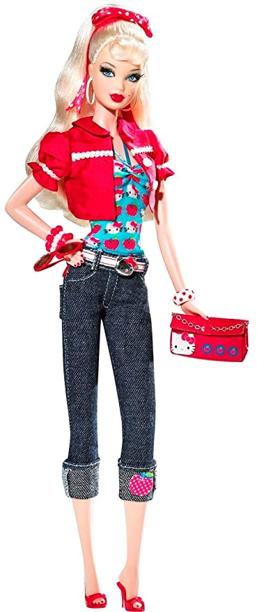 1606ce0fa Image Unavailable. Image not available for. Color: Barbie Hello Kitty  Collector Doll ...