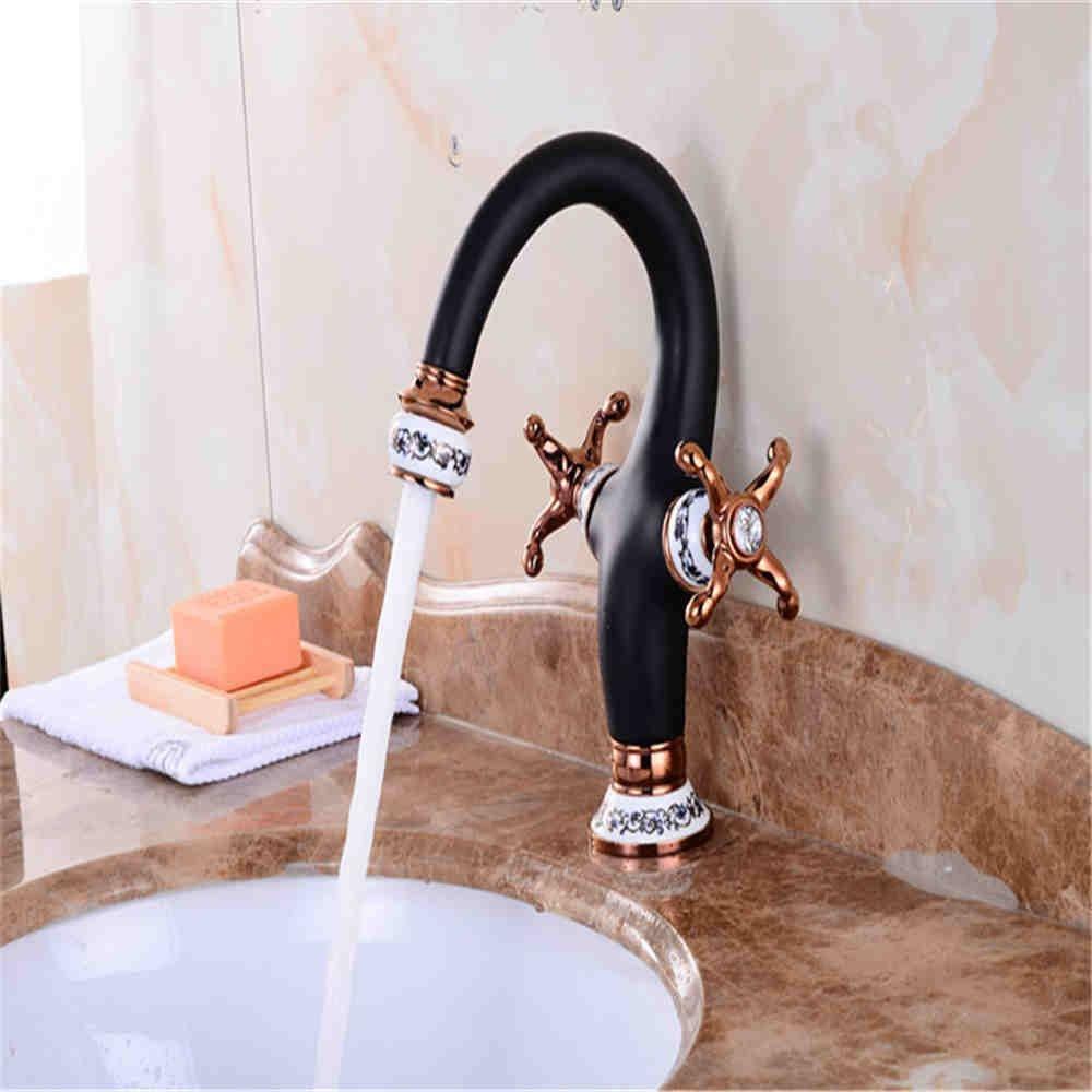 NewBorn Faucet Wasserhähne Warmes und Kaltes Wasser Guter Qualität Farbe Becken kunstvoll Kupfer Badezimmerschrank