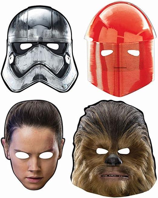 Amazon Com Masks Star Wars The Last Jedi Paper 8ct Home Kitchen