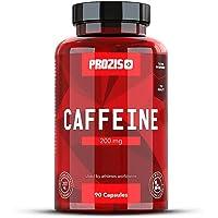 Prozis Caffeine 200mg 90 Caps - Complemento para Estimular la Concentración, los Niveles de Energía y la Quema de Grasa - Sin Azúcar ni Calorías - 90 Dosis