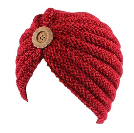 Gespout niña Sombreros Gorras Gorro De Punto Caps para Mujer Tejer ...