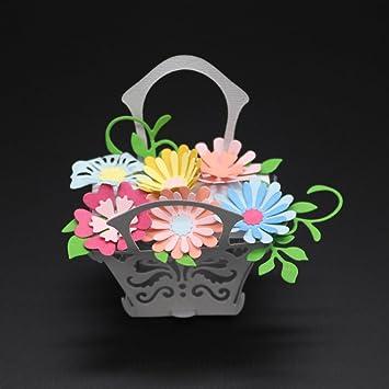 Troquelado de flores con forma de corazón de metal, plantilla para hacer manualidades, álbum de recortes, tarjetas de papel, para el jardín de casa, cocina, artesanía, scrapbooking: Amazon.es: Juguetes y juegos