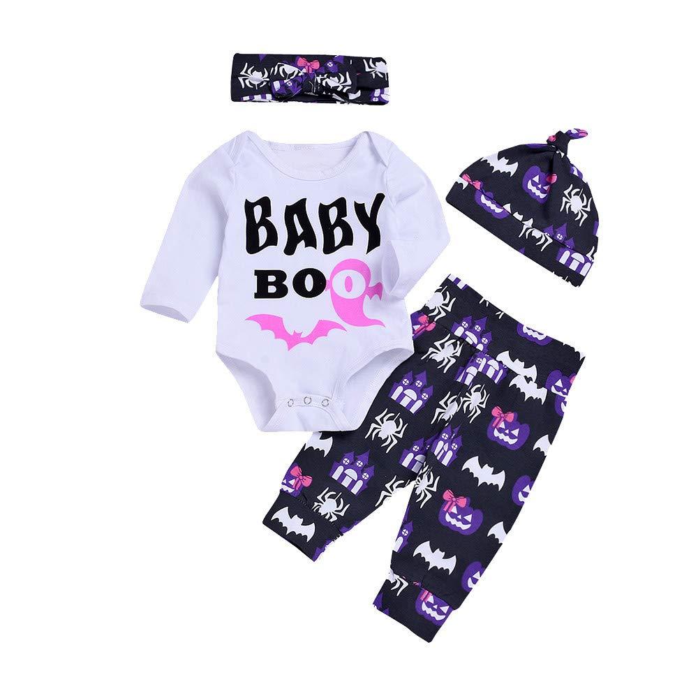 Bestow Diademas Pantalones Casquillo Trajes de Halloween Bebé Carta de Manga Larga Impreso Infant Baby Girls Boys Romper: Amazon.es: Ropa y accesorios