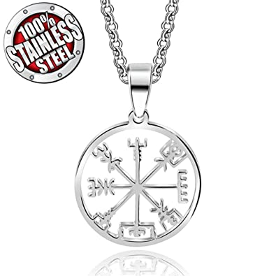 Amazon Handmade Jewellery Stainless Steel Viking Odins Symbol