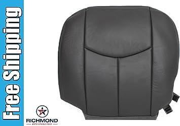 2003-2007 GMC Sierra Yukon Tahoe Driver Side Bottom Leather Seat Cover Dark Gray