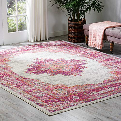 (Nourison PSN03 Passion Traditional Bright Colorful Area Rug 8' x 10')