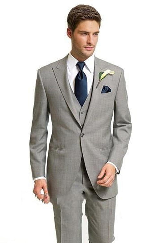 Silver Moonlight Men's Italian Fashion Style Wedding Tuxedo