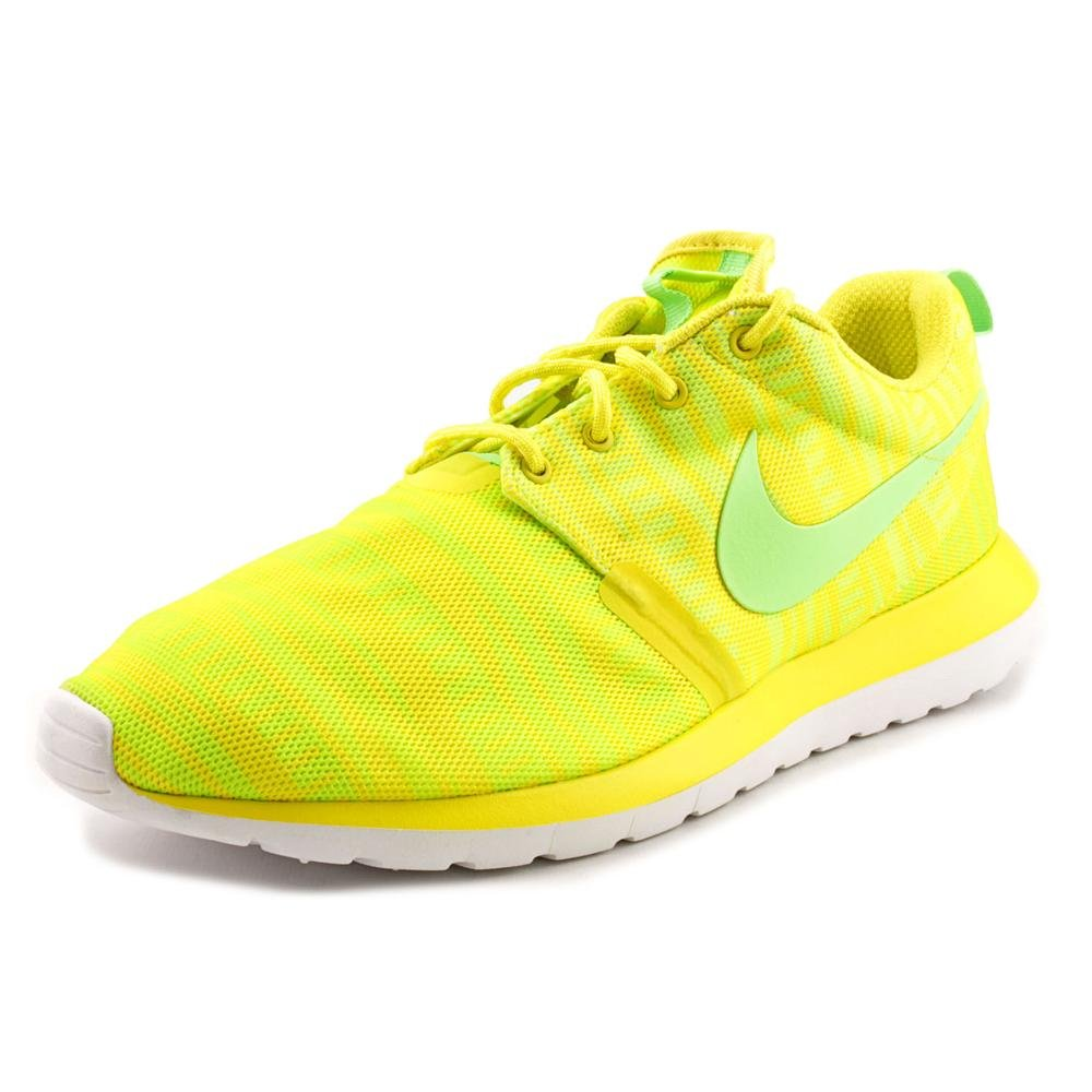 73dc56ad6259 Amazon.com  Nike Rosherun Natural Motion Breeze Chrome Yellow - Electric  Green - Volt - White Mens 10.5  Sports   Outdoors