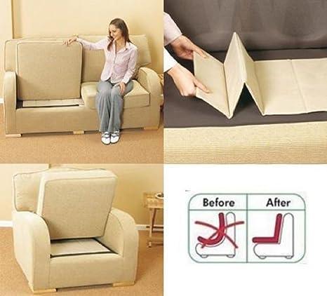 Rejuvenecedor de sillones de lujo, soporte para sofás de 1-2-3 asientos de Comfylot Ltd®, crema, 2 Seater