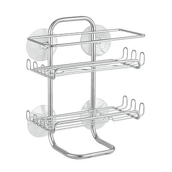 InterDesign Classico Suction Bathroom Caddy   Shower Storage Shelves For  Shampoo, Conditioner And Soap