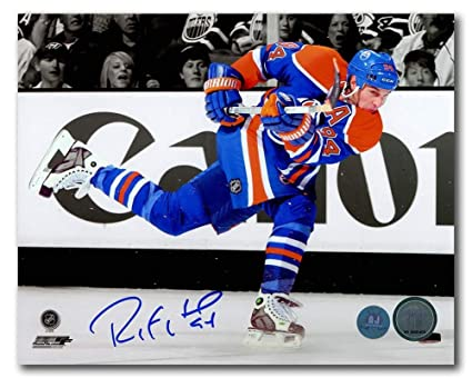 0afc34e0d Image Unavailable. Image not available for. Color  Ryan Smyth Edmonton  Oilers Autographed Autograph NHL ...