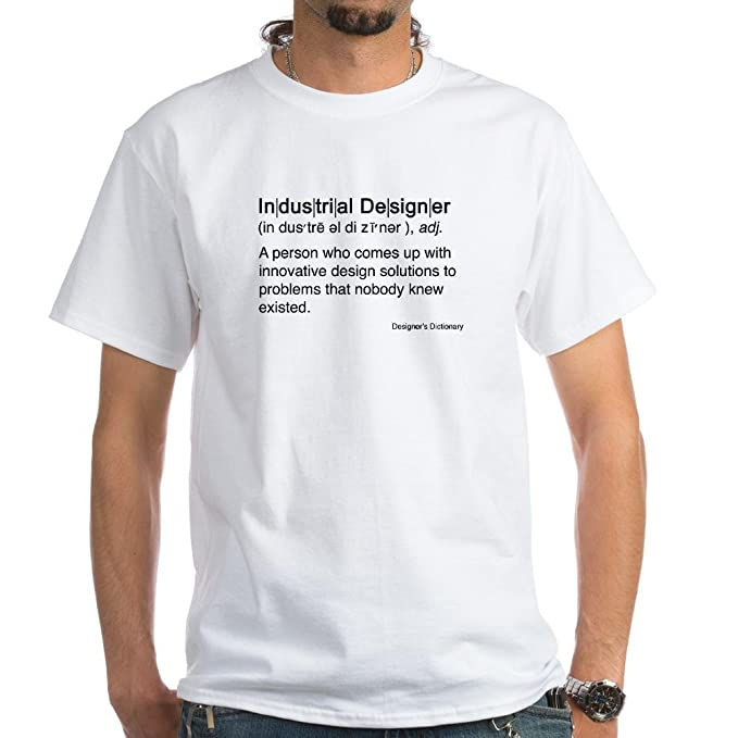82c817d14b Amazon.com  CafePress Industrial Designer White T-Shirt Cotton T ...