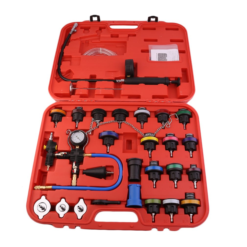 CATUO Universal Radiator Pressure Tester and Vacuum Type Cooling System Kit - 28-Piece Purge and Coolant Refill Kit W/Case - 58 x 48 x 11cm by CATUO (Image #3)