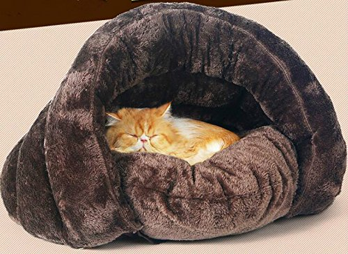 Suxian morbido Pet cane gatto inverno caldo velluto Sleeping Bed – marrone