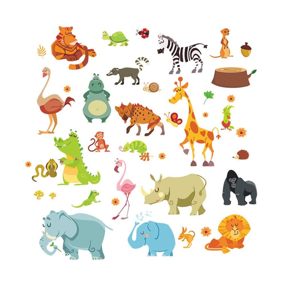 Nicebuty Dschungel Tierwandaufkleber Kinderzimmer Safari Kindergarten Raum Baby Hauptdekoration Poster Affe Wie Pferd Wandtattoo Diy Tools Rahmung Burobedarf Schreibwaren