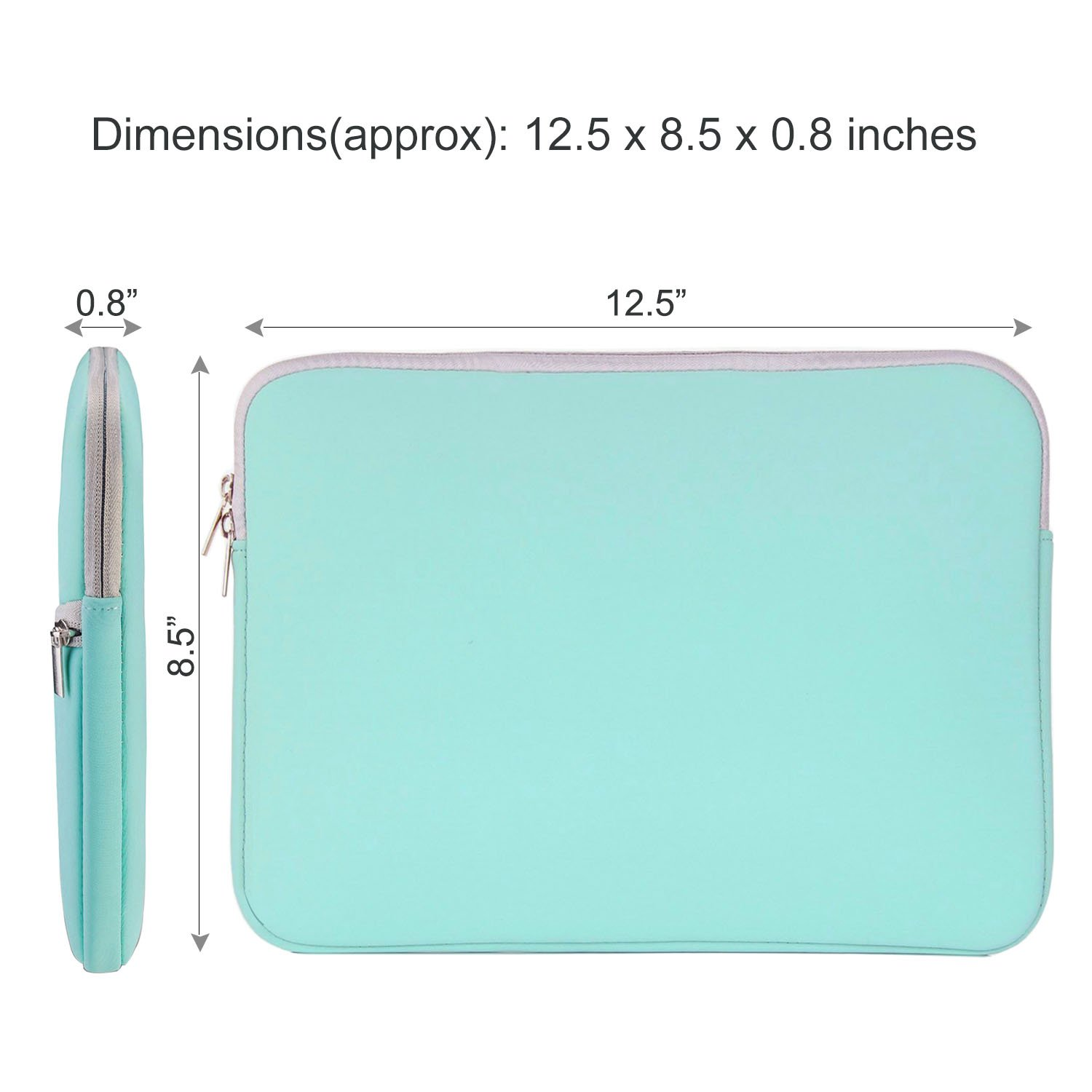 HESTECH Chromebook Case, 11.6-12.3 inch Neoprene Laptop Sleeve Case Bag Handle Compatible with Acer Chromebook r11/HP Stream/Samsung Chromebook/MacBook air 11/, Mint Green by HESTECH (Image #4)