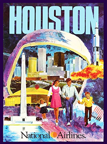 - A SLICE IN TIME Houston Texas National Airlines Vintage United States Travel Collectible Wall Decor Art Poster Print. Measures 10 x 13.5 inches