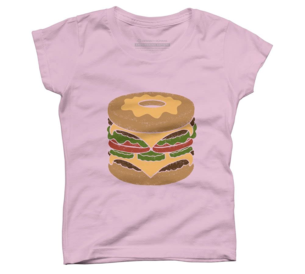 Donut Burger Girls Youth Graphic T Shirt Design By Humans