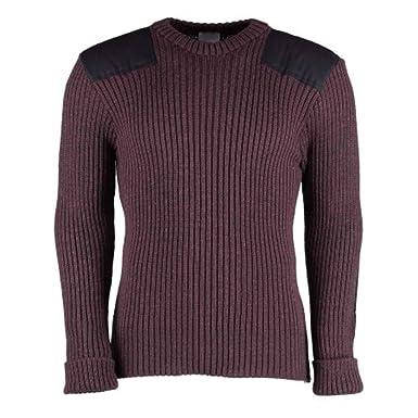 f5a4db38f33 Amazon.com  British Commando Sweater Woolly Pully Crew Neck  Clothing