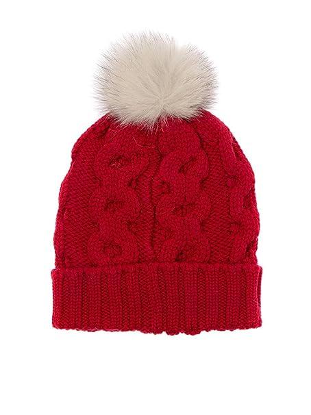 Woolrich Cappello Donna Wwacc1348ac93576 Lana Rosso  Amazon.it   Abbigliamento 03178fde5cb2