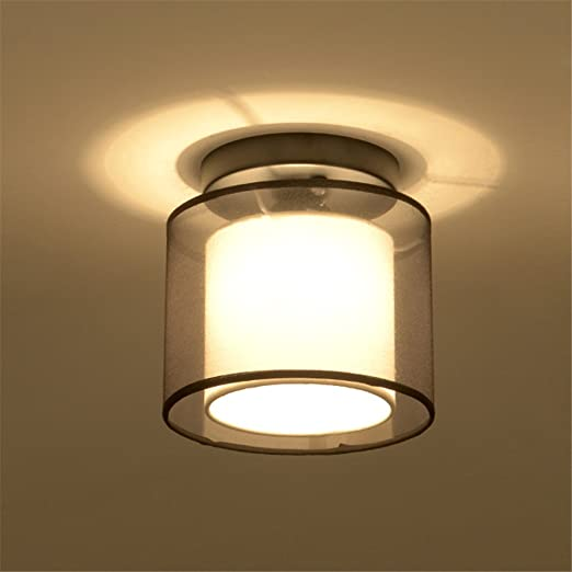 Capable Vintage Ceiling Lights Lampshade Corridor Entrance Balcony Living Room Lights #a Ceiling Lights Lights & Lighting