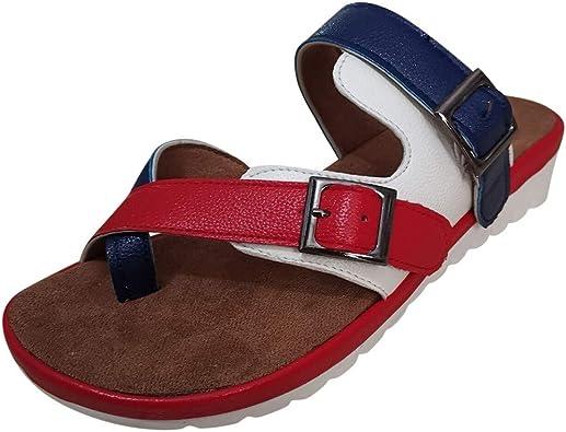 New Hommes Enfiler Sandales Confort Été Marche Mules Chaussures De Plage Tongs UK