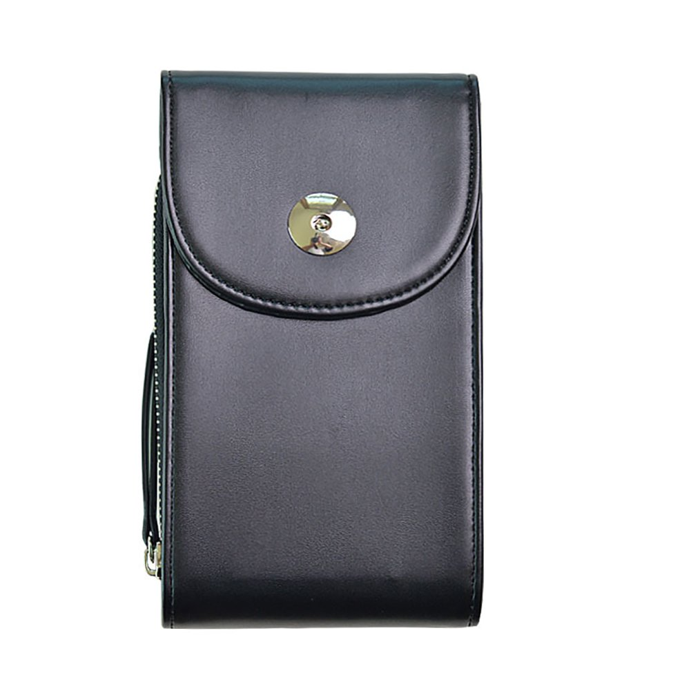 Women Small Crossbody Bag Cell Phone Purse Wallet PU Leather Phone Pouch Card Holder Coin Organizer Shoulder Bag (#1 Black)