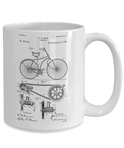 photograph relating to Coffee Cup Printable called : Bicycle Companion Espresso Mug Bicycle Reward For Guys