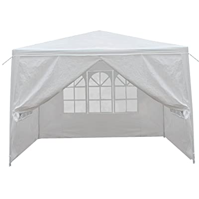 BBBuy 10'x10' Outdoor Party Wedding Tent Canopy Camping Gazebo Storage BBQ Shelter Pavilion with 4 Removable Sidewalls (10x10) : Garden & Outdoor