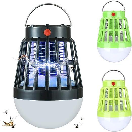 Pi/ège /à moustiques /électronique /à /énergie Solaire pour ext/érieur Lumi/ère de Nuit Vert Gazon USB Lampe de Camping Lampe Anti-moustiques