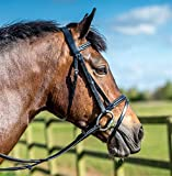 Ridemaster Leather Padded Bridle With FREE Rubber Reins All Sizes Black or Brown