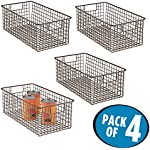 'mDesign Deep Wire Storage Basket for Kitchen, Pantry, Cabinet - Pack of 4, Bronze' from the web at 'https://images-na.ssl-images-amazon.com/images/I/61gYhQM2cNL._AC_SR150,150_.jpg'