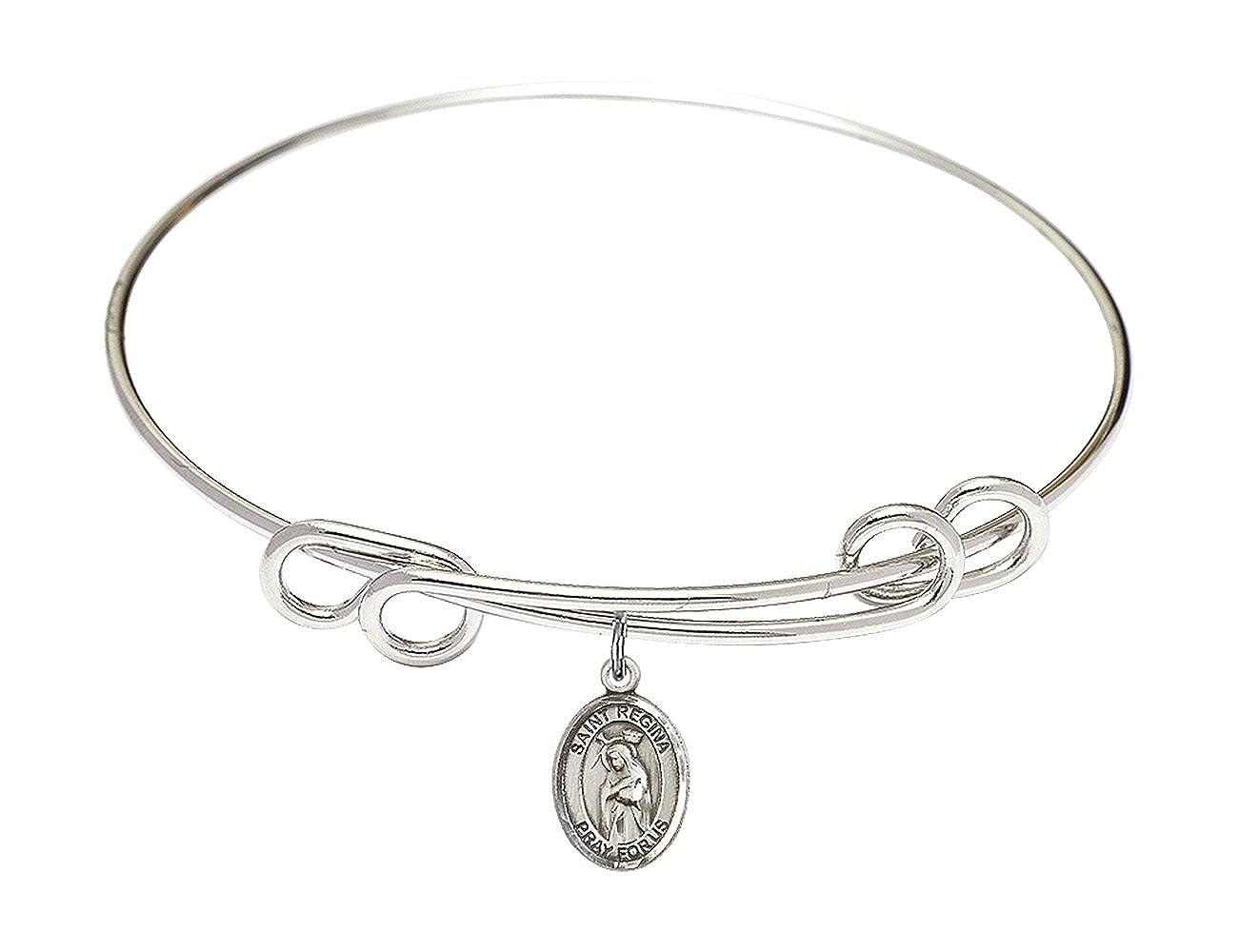 Regina Charm. DiamondJewelryNY Double Loop Bangle Bracelet with a St