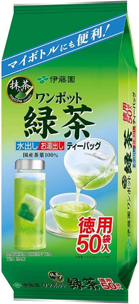 【まとめ買い】 伊藤園 ワンポット抹茶入り緑茶 ティーバッグ 50袋 × 2パック<計100袋>