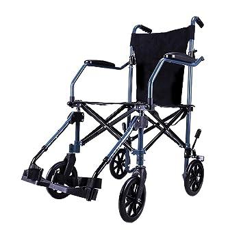 Sillas de ruedas Rueda de Viaje Carro portátil Scooter para Personas Mayores Plegable para niños Scooter multifunción de Viaje Carga 100 kg Mejor Regalo ...