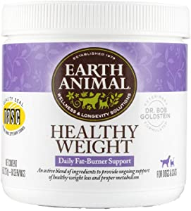 Earth Animal Healthy Weight Nutritional Supplement for Dogs & Cats, 8 oz. Container