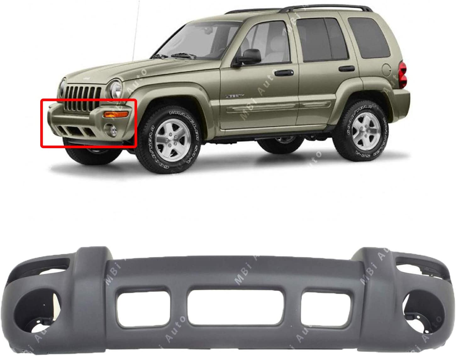Amazon Com Bumpers That Deliver Textured Gray Front Bumper Cover Fascia For 2002 2003 2004 Jeep Liberty Sport 02 03 04 Ch1000367 Automotive