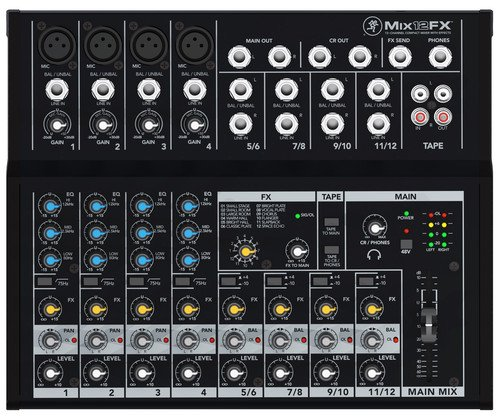 - Mackie Mix Series Mix12FX 12-Channel Effects Mixer