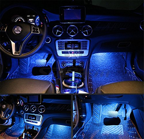 Led Per Auto Interni.Amazon Com 4pcs Car Led Interior Underdash Lighting Kit W