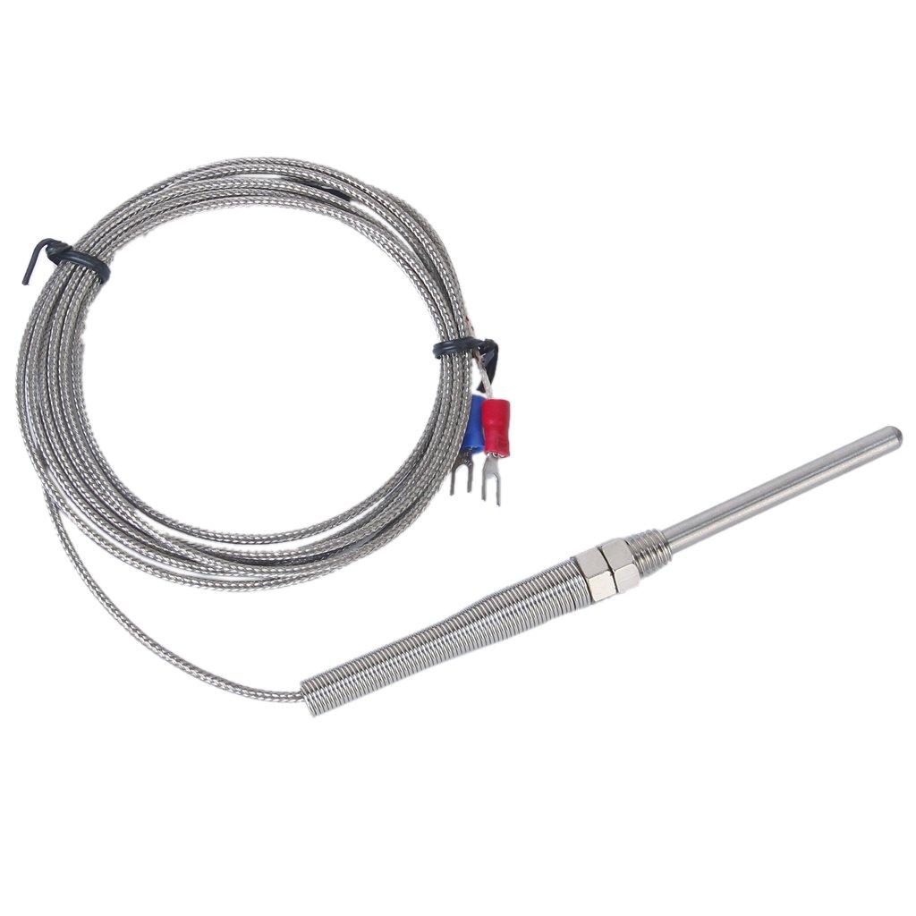 Sharplace 2pcs 50mm 2m K Type Thermocouple R/égulateur Temp/érature Capteur Sonde de 100/°C /à 1250/°C