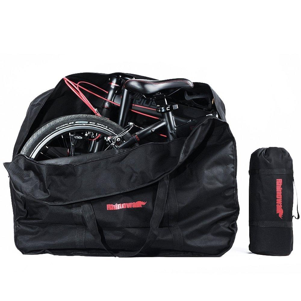 Folding Bike Bag Bicycle Travel Carry Bag 16 to 20 inches Bike Storage Bag Outdoors Transport Case Black