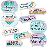 Funny Let's Be Mermaids - Baby Shower or Birthday Party Photo Booth Props Kit - 10 Piece