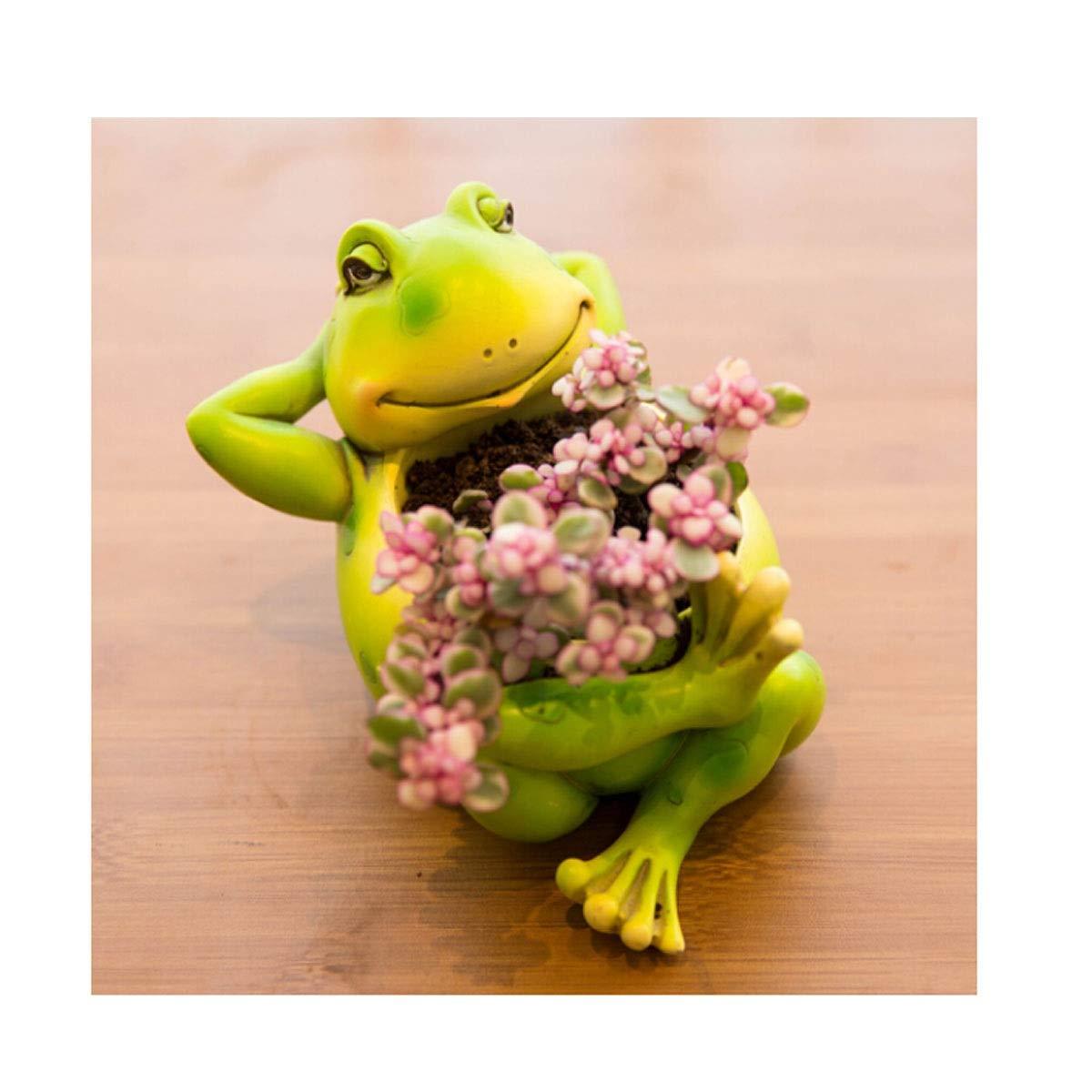 HUIJUNWENTI Flower Pot, Resin Cartoon Animal Ornaments, Creative Plant Flower Pot, Owl Flower Pot (Color : S) by HUIJUNWENTI