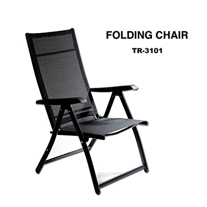 Amazon.com: Heavy Duty Durable Adjustable Reclining Folding Chair ...