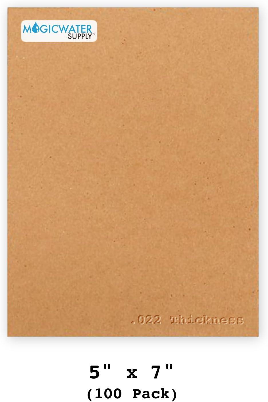 "30 White Brown Chipboard 8.5x11 Cardboard Scrapbook Sheets .022 8.5/""x11/"""