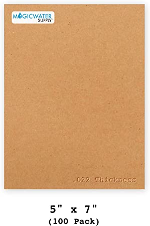 5 pack Chipboard Sheets for Arts and Crafts Scrapbooking Backing Mounting Board Picture Framing Shipping Cardboard HGP 5 1//2 x 7