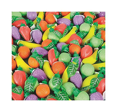 Candy Filled Plastic Fruit Shapes (With Sticky Notes) by Bargain World (Image #4)