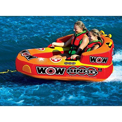 2 Person Water Ski Tube - WOW World of Watersports Bingo 1-2 Person Cockpit Ski Tube