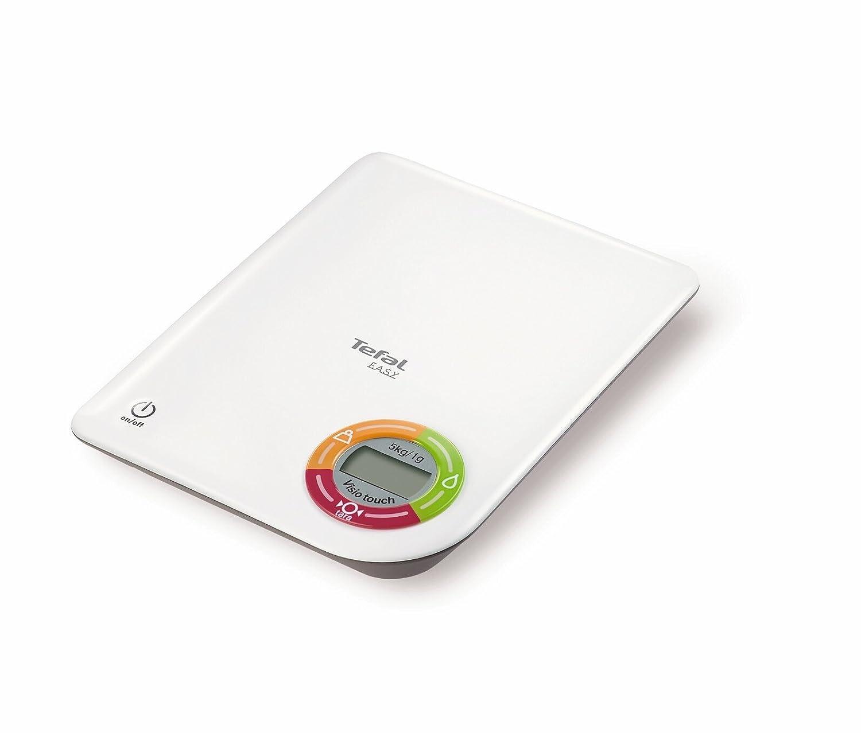 Tefal Easy Plastic - Báscula de cocina, pantalla táctil, función tara, peso máximo 5 kg, graduación 1 g: Amazon.es: Hogar