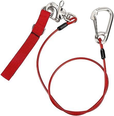 VGEBY Cordón para apnea Cuerda de Seguridad Clip de Acero ...